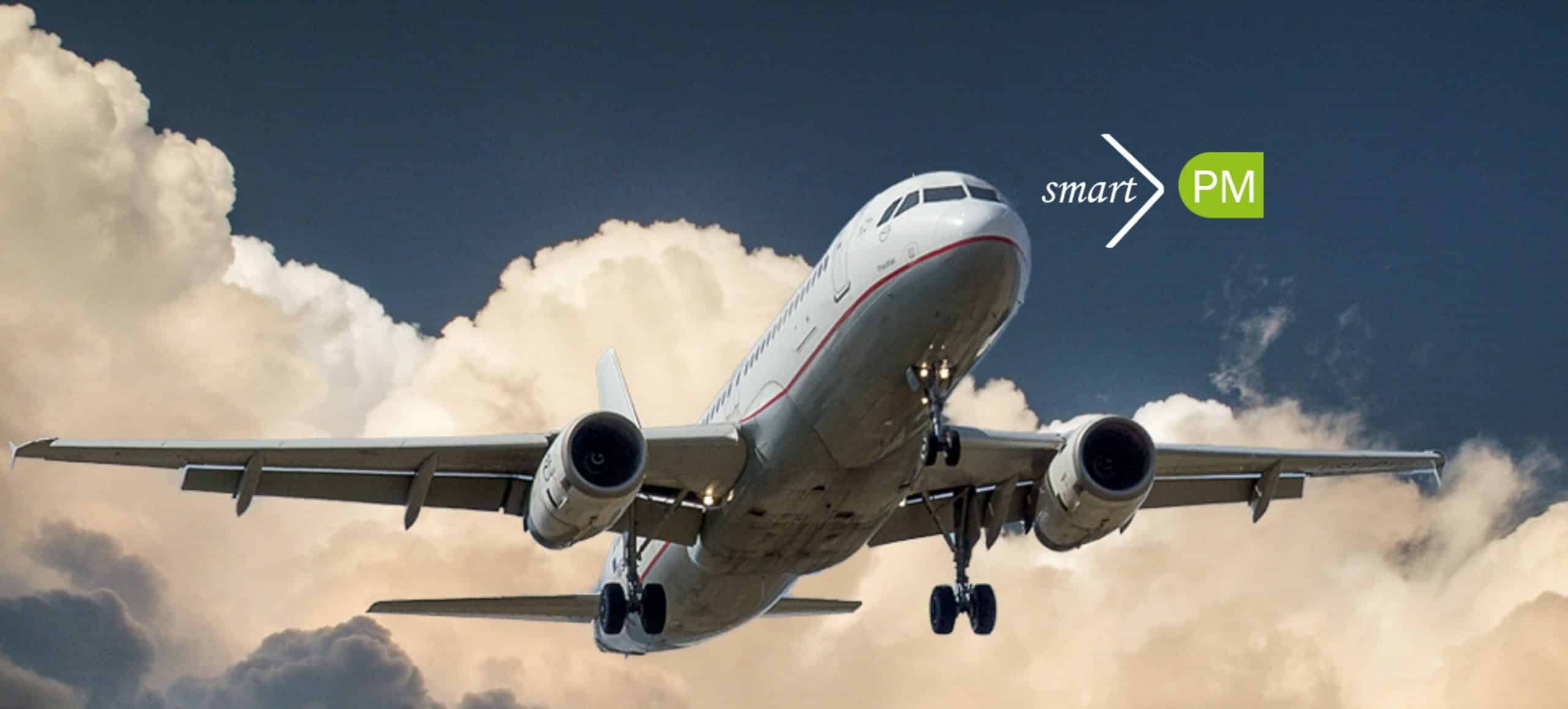 Air Plane smartPM solutions Consultants travel climate neutral