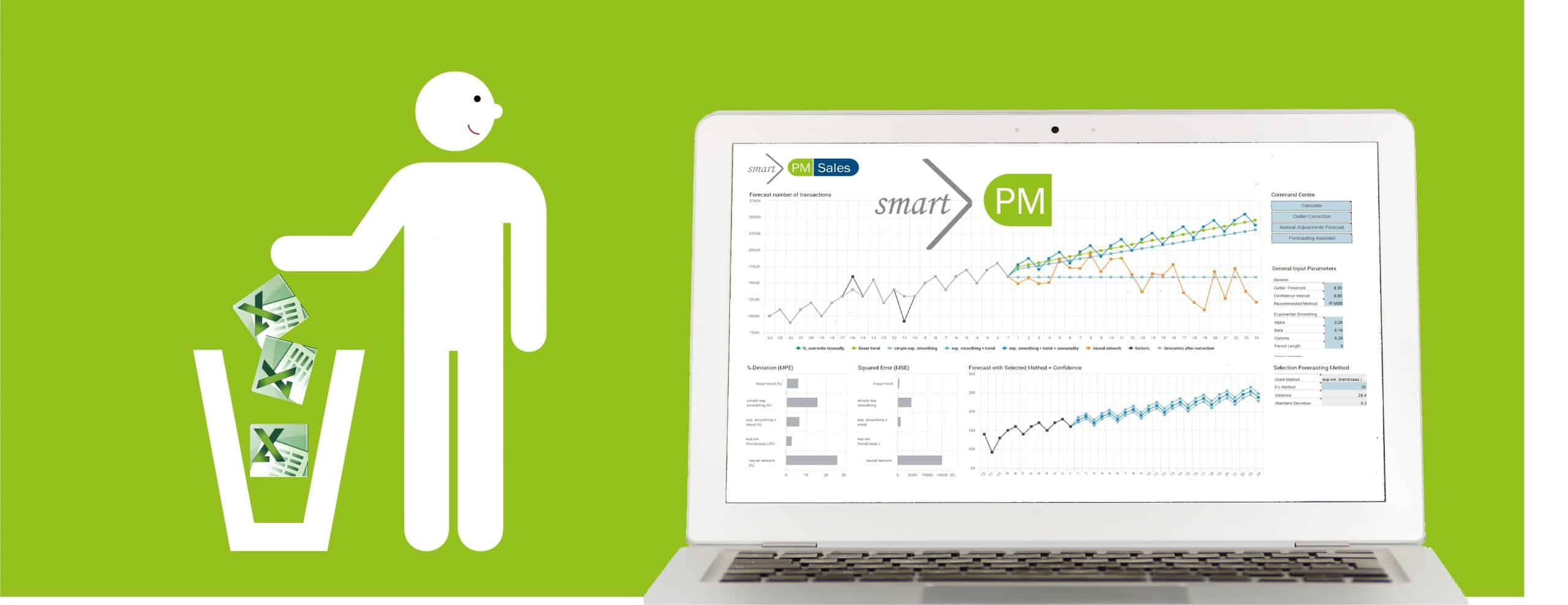 A shortcut to smartplanning with smartPM.solutions Excel in the Bin