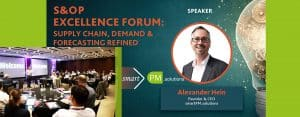 smartPM solutions at S&OP Excellence Forum, Supply Chain, Demand& Forecasting refined, CEO Alexander Hein as Speaker